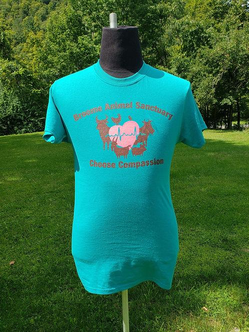 Teal Choose Compassion T-Shirt