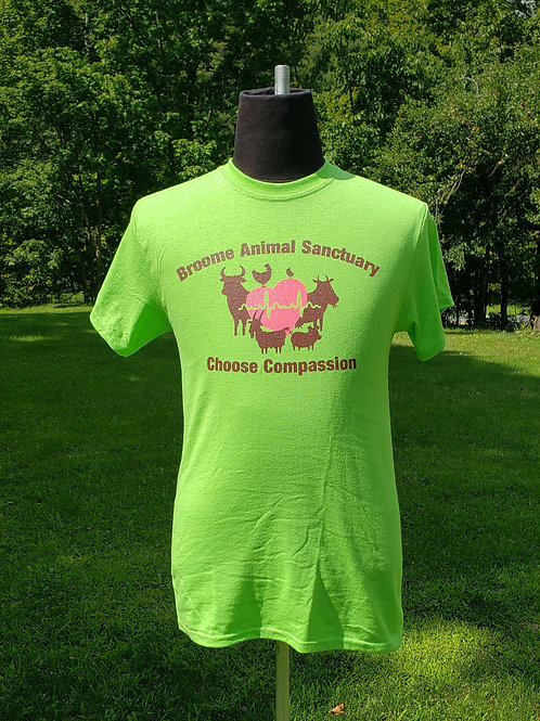 Lime Green Choose Compassion T-Shirt