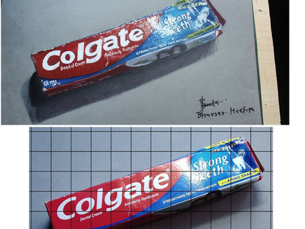 How To Draw Realistic Colgate Toothpaste Using Color Pencils?