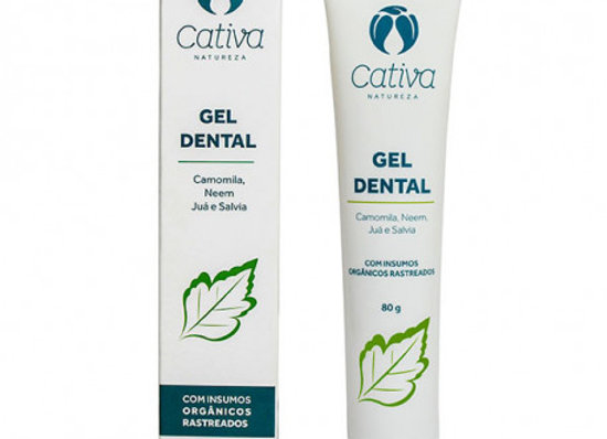 Gel Dental Menta Orgânico Natural Vegano 80g