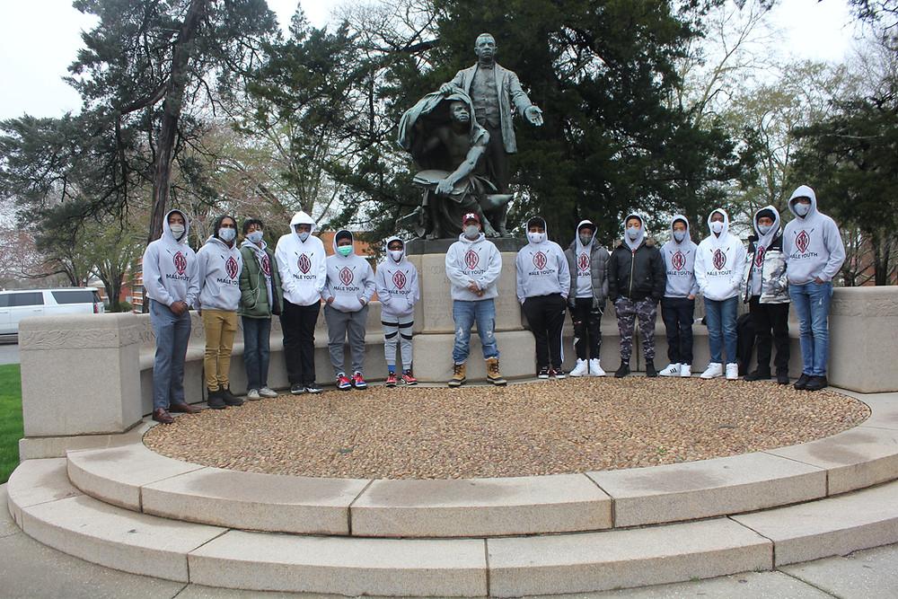 Booker T. Washington's Lifting the Veil statue