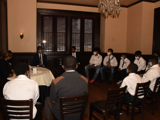 Eastlake Male Youth Initiative Students Usher in the New Year With an Etiquette Luncheon