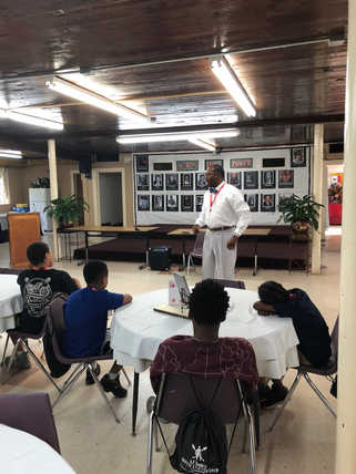 Dr. Said Sewell Addresses Academy Students