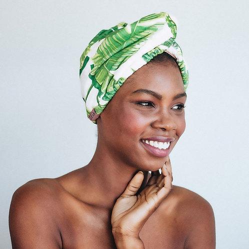 Microfiber Hair Towel - Palm Print