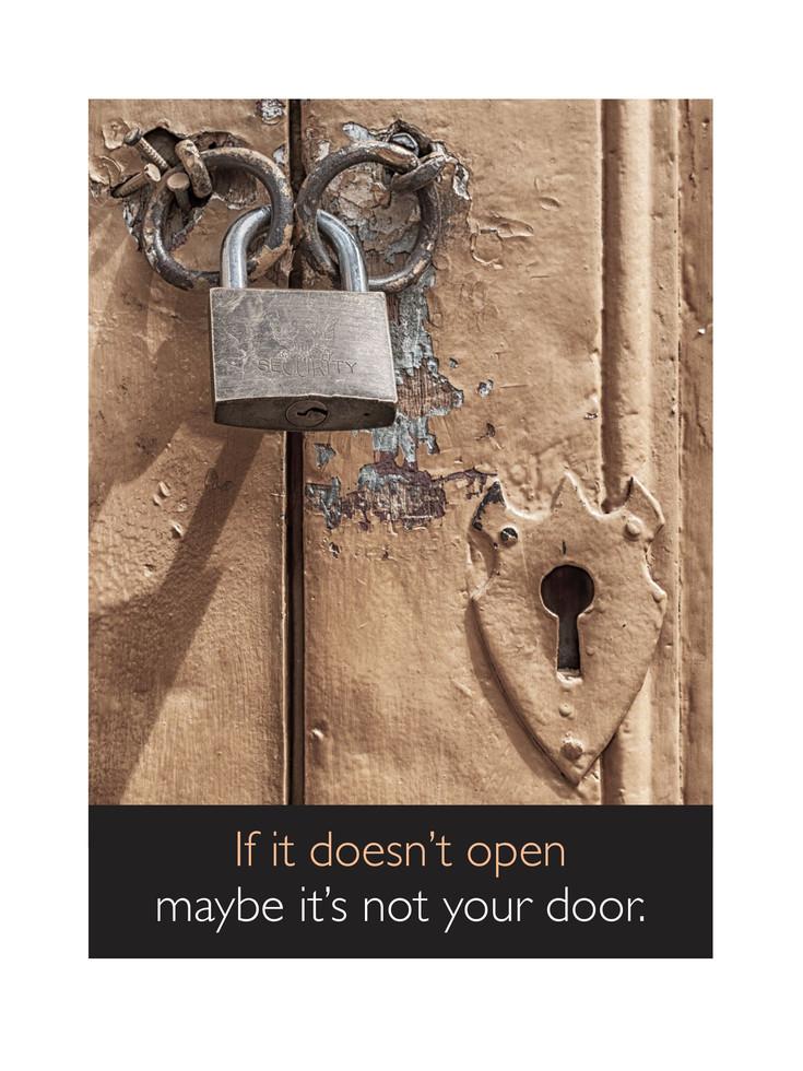 If it doesn't open. . .