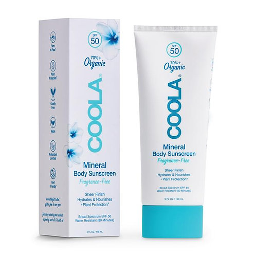 MINERAL BODY ORGANIC SUNSCREEN LOTION SPF 50 - FRAGRANCE-FREE