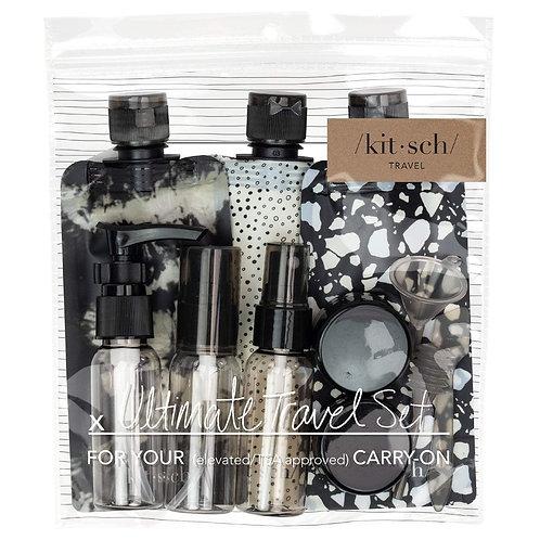 Ultimate Travel 11pc Set - Black & Ivory
