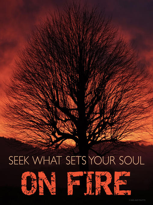 SEEK WHAT SETS YOUR SOUL ON FIRE.