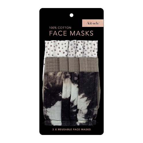 Cotton Face Mask (3pc Set) - Neutral