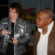 With Hugh Masakela