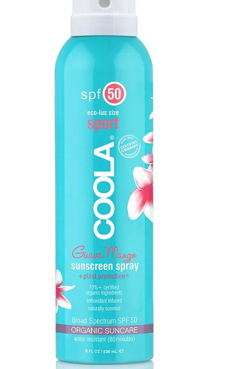 COOLA - Eco-Lux Sport SPF 50 Organic Sunscreen Spray / Guava Mango