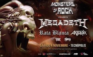 El metal prepara su fiesta con Megadeth, Anthrax, Rata Blanca ¡y más!