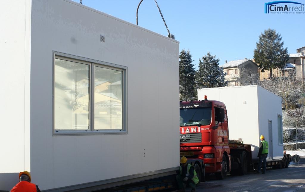 Chiosco Multiblocco parete liscia - trasporto