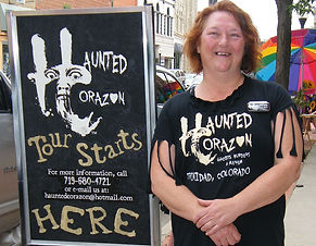 Haunted Corazon Ghost Tours, till tales of GHOSTS, MUIRDER, and MAYHEM, in Triinidad, Colorado