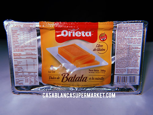 Orieta - Dulce de Batata a la Vainilla