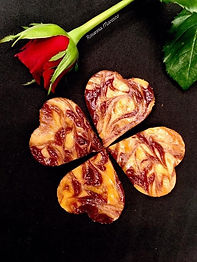 Marmorierte Herz-Cheesecakes