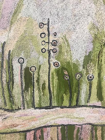 Landscape dot painting