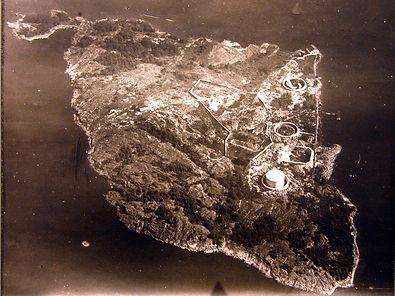 Ilmakuva Vasikkasaaresta. Otettu todennäköisesti 1925. Sotamuseo.