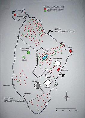 Saari jaettuna työväen ja valtion virkamiesten käyttöön vuonna 1962