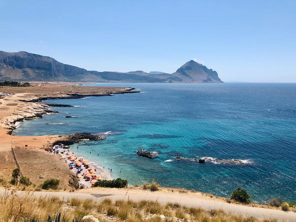 Coastal beach in Sicily just south of San Vito Lo Capo and Scopello