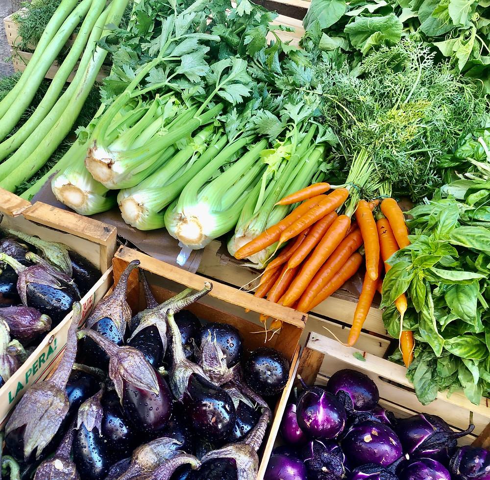 Vegetable stand at Ballarò Market Palermo Sicily