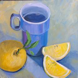 Mugshots blue oil on canvas 25x25cm $300