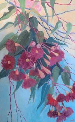 Gumblossoms oilon canvas 50x77cm