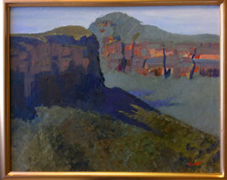 Percys look down Blue Mountains 45x55 oi