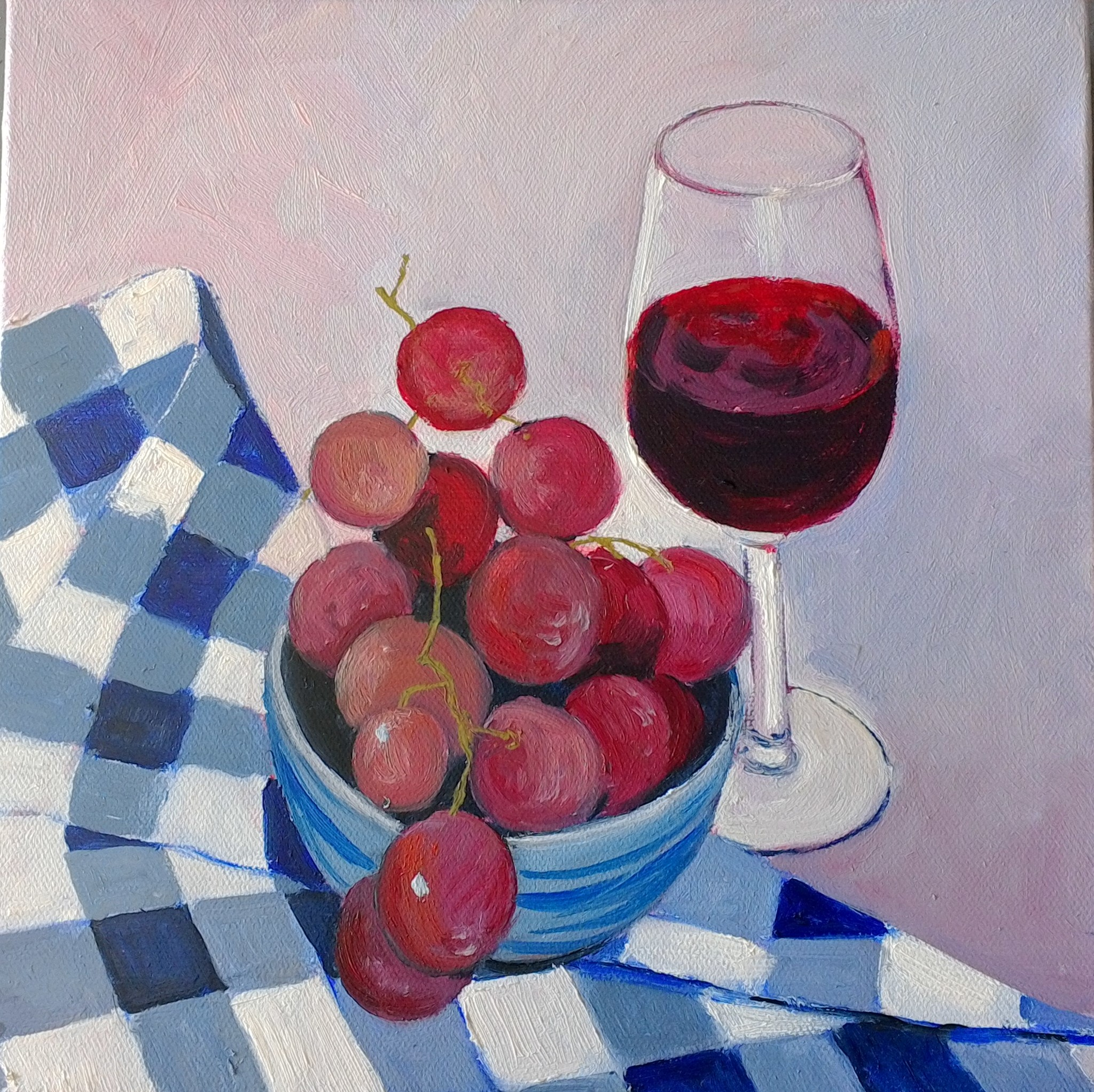 .Red Wine oiloncanvas 24x24cm