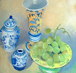 Grapes (oil on canvas ) 43cx41 $400