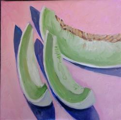 Mellon oil on canvas 25x25cm $300.jpg