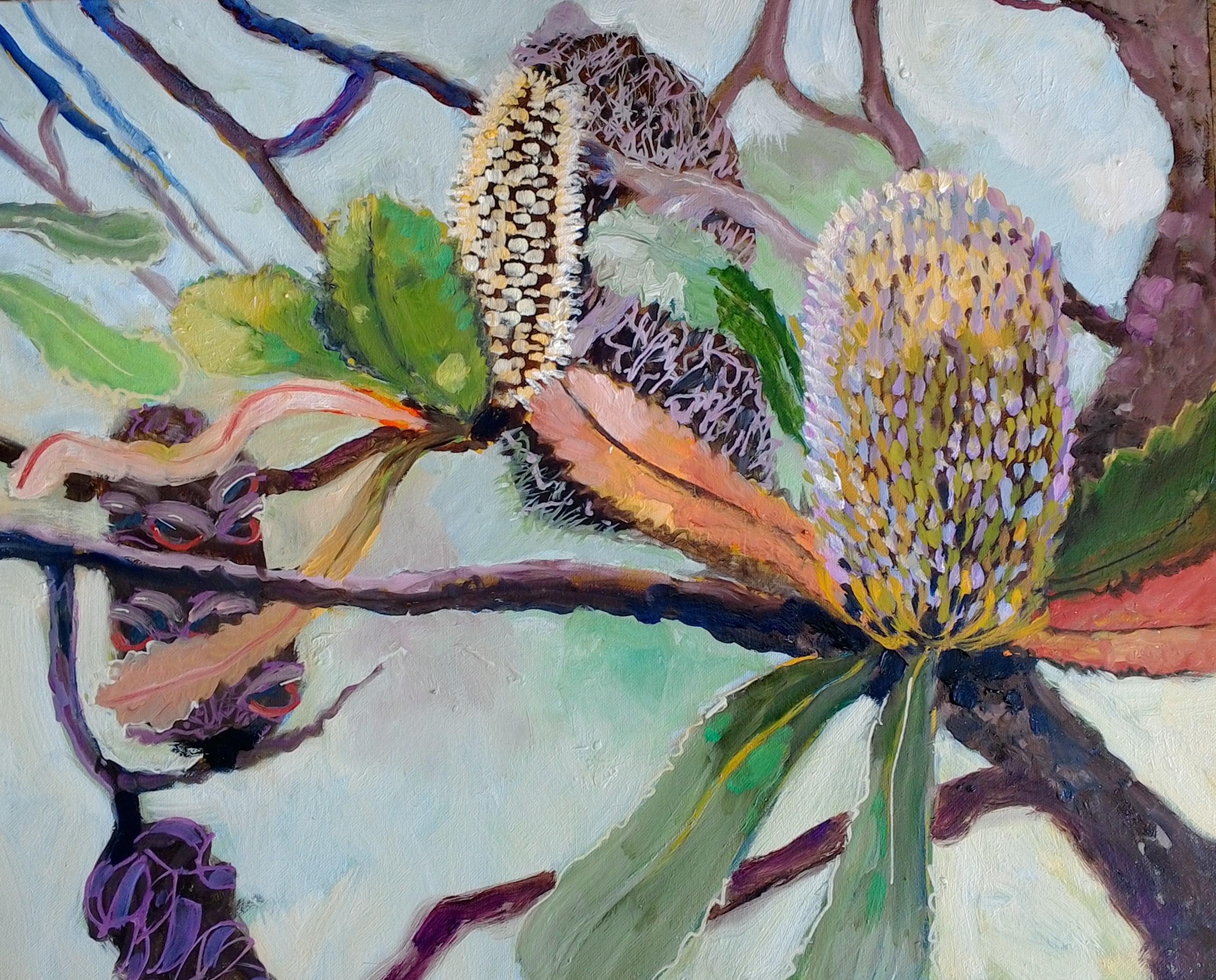 Banksia oil on canvas 40x50cm