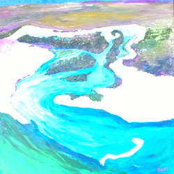 """Over Cape Leveque (oil on canvas 70""""x70"""") $750"""