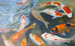 Koi oil on canvas 80x50cm $600.jpg
