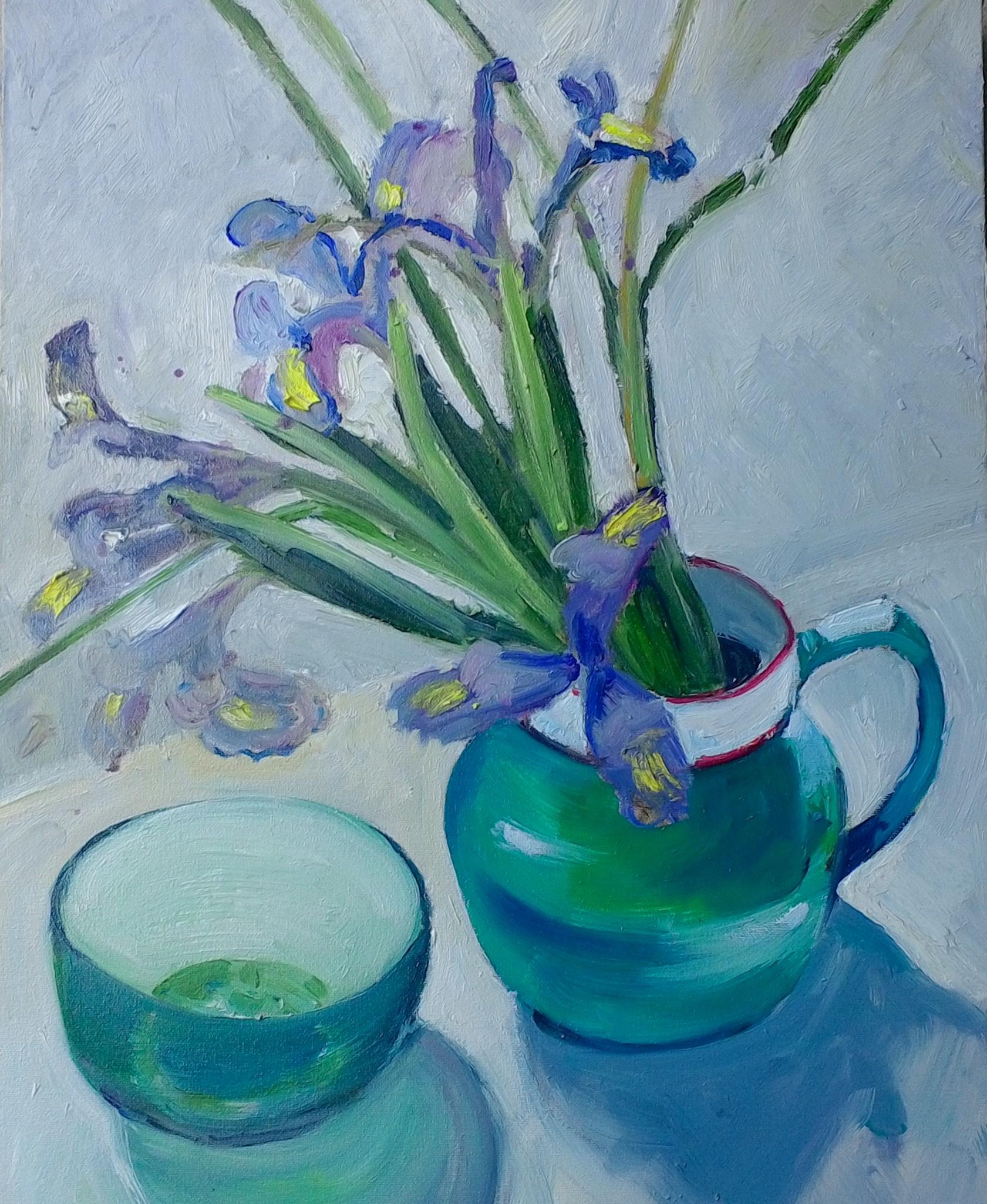 Iris oil on canvas 50x37 $300