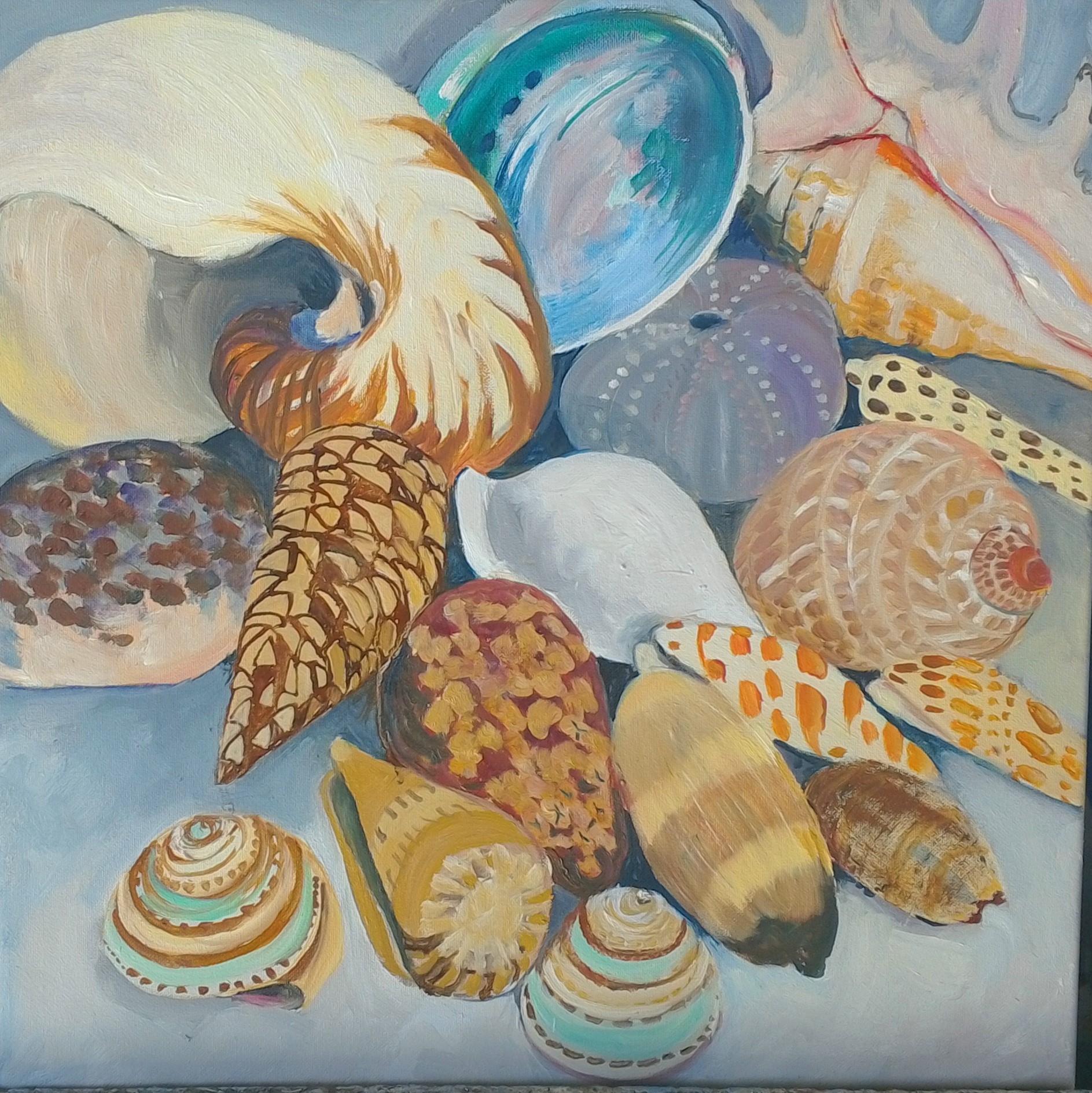 .Of the sea oiloncanvas 40x40cm