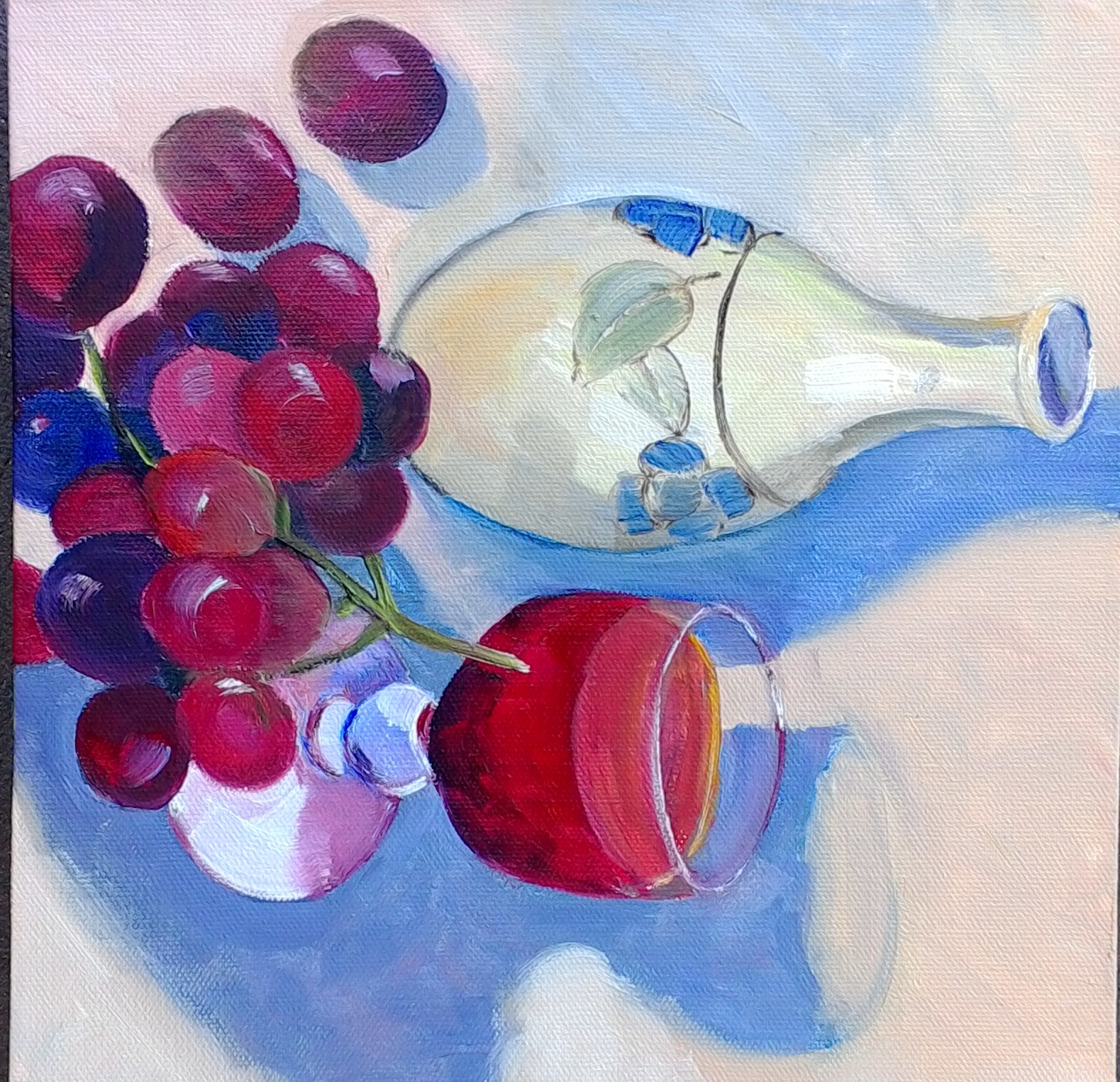 Grapes oil on canvas 25x25cm $300