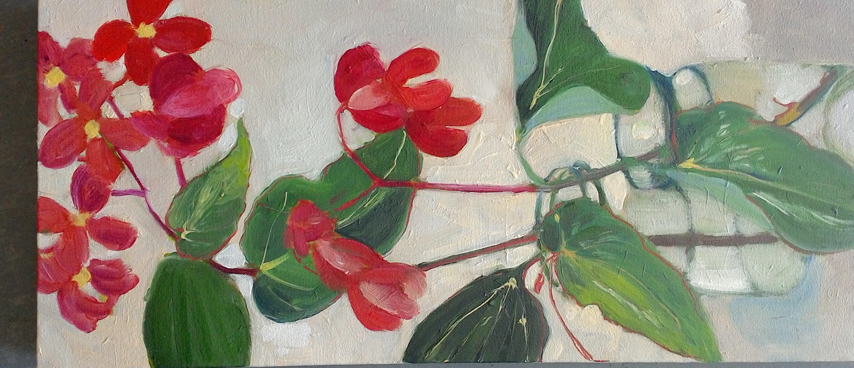 .Begonia oiloncanvas 24x53