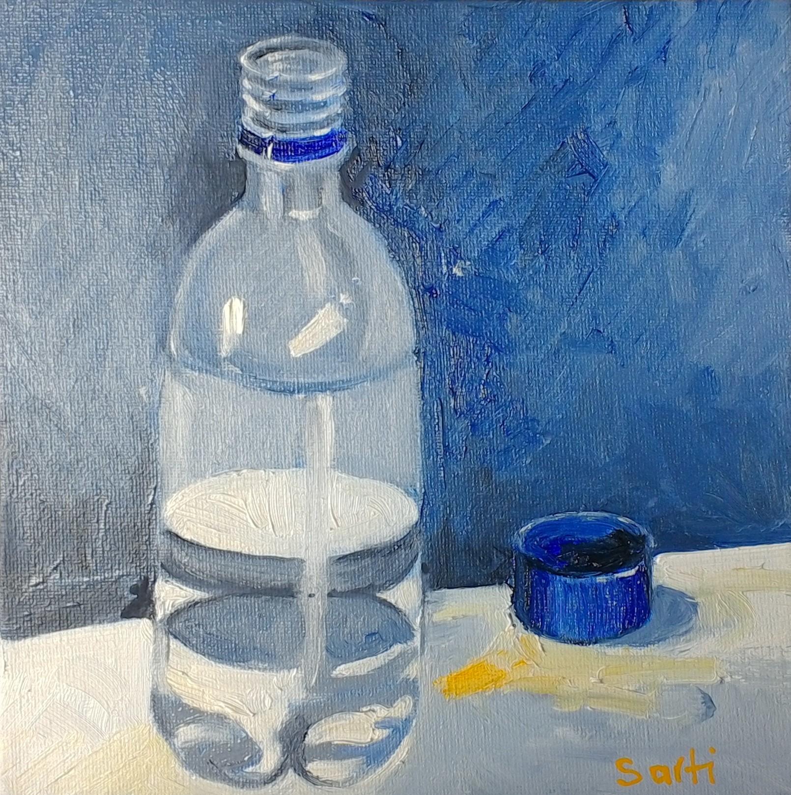 Water bottle oil on canvas 20x20 $200.jp