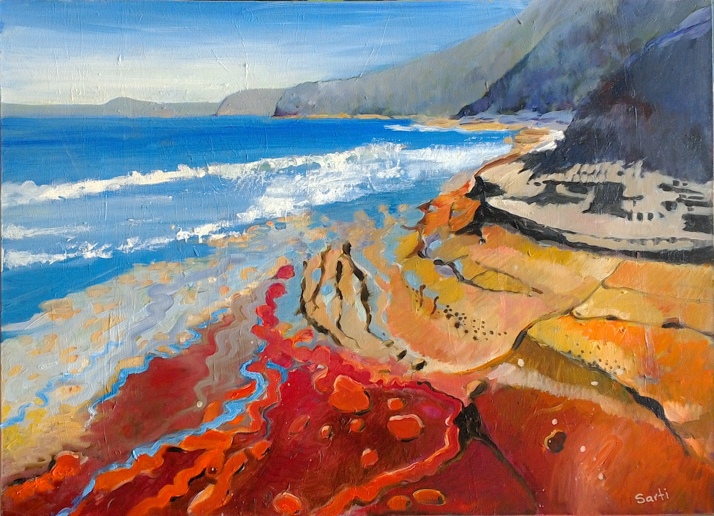 The Rocks oil on canvas 54x74 $750