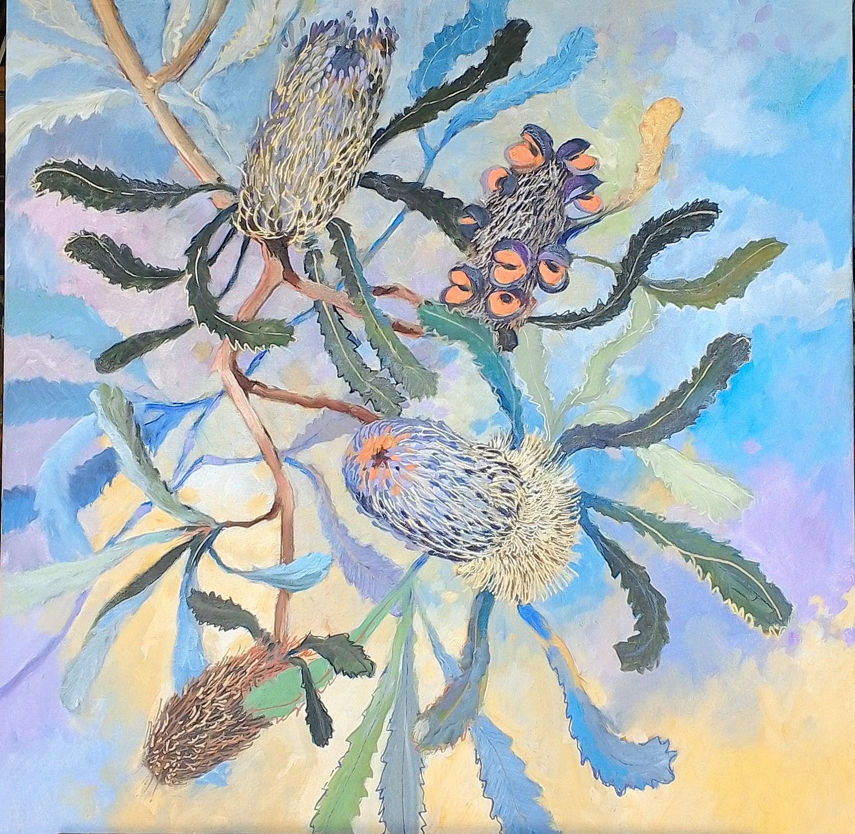 Banksia oil on canvas 54x74cm $750