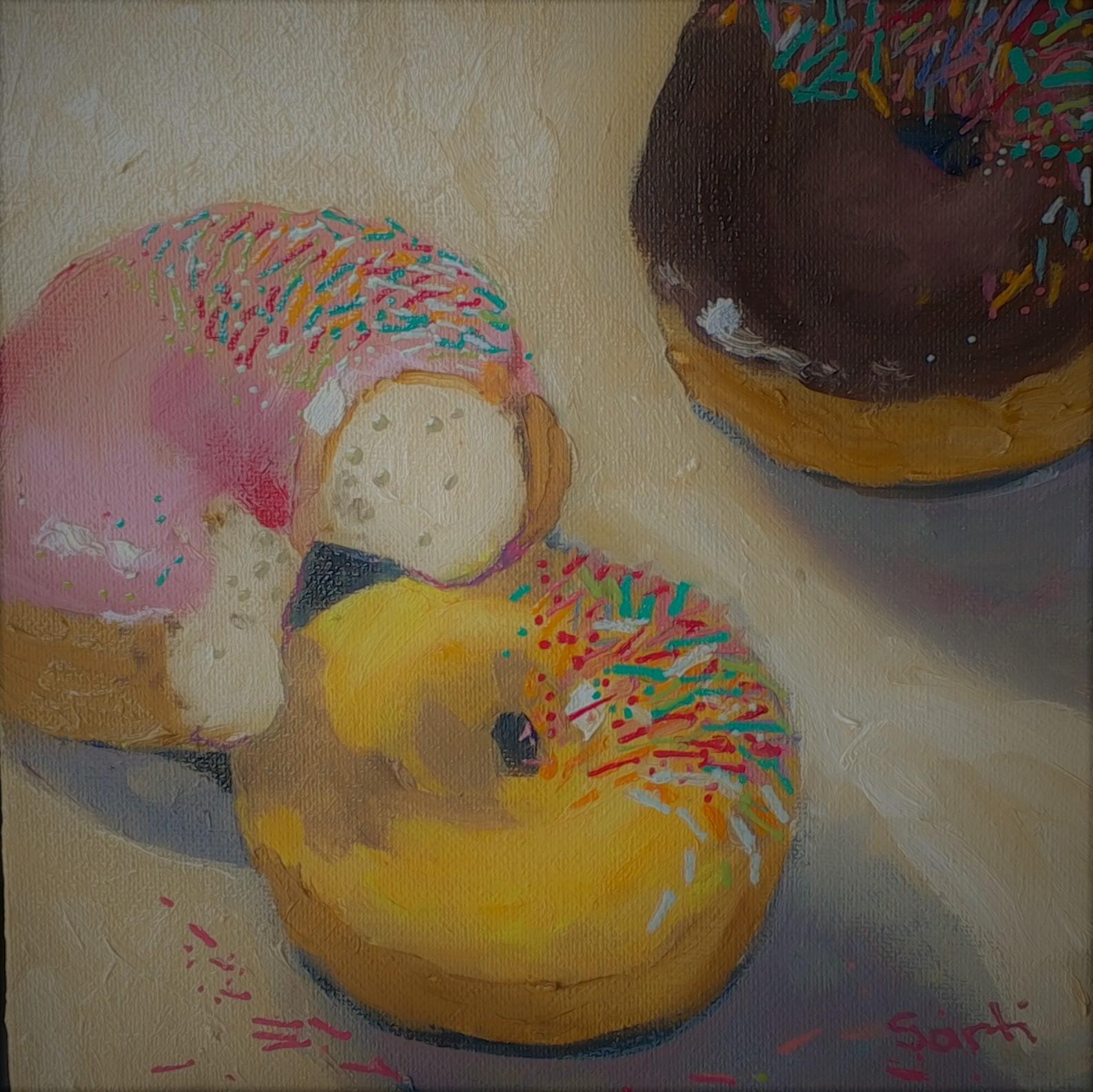 Doughnuts oil on canvas 20x20cm $200.jpg