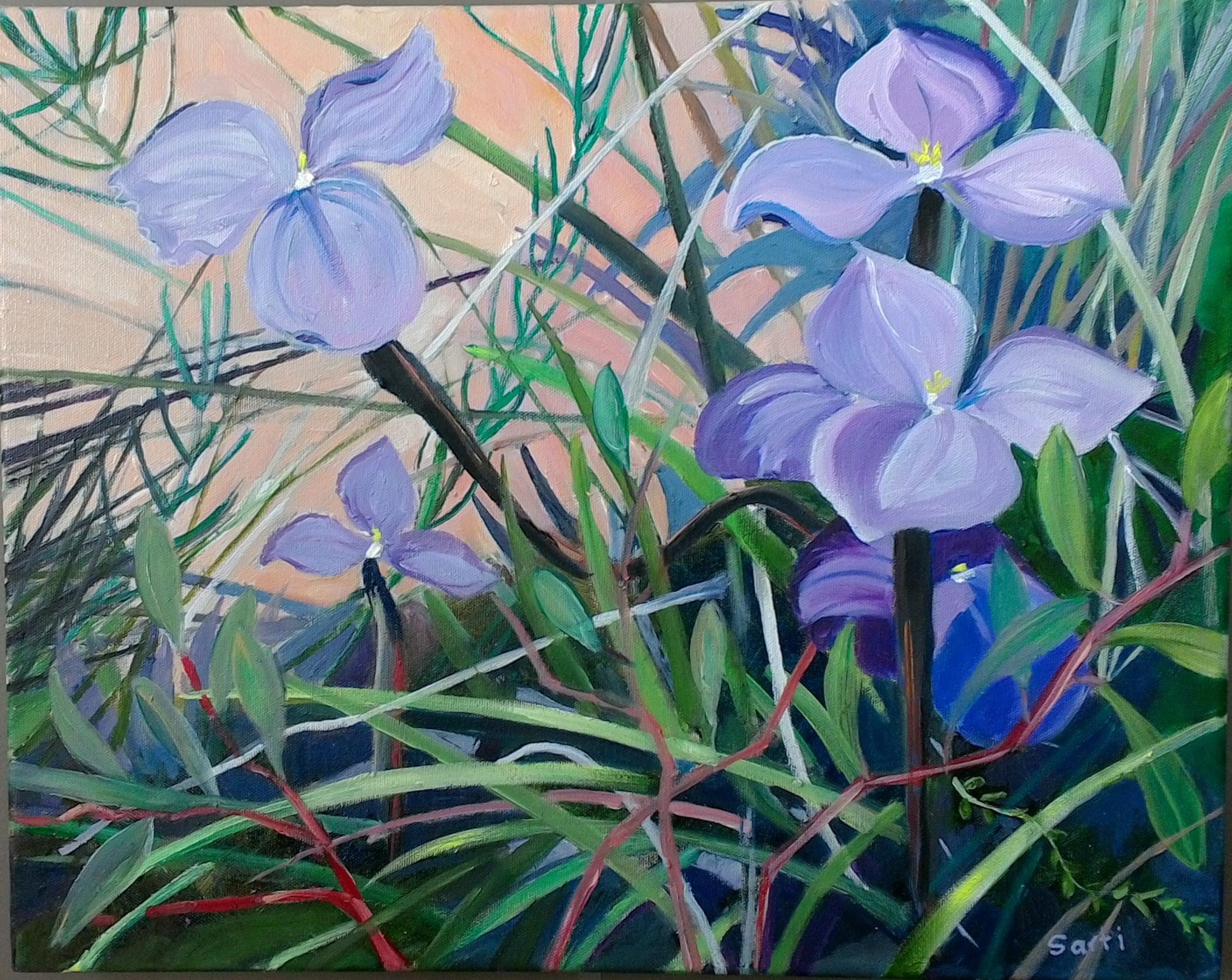 Flag iris (oil on canvas 50x40cm) $400