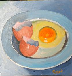 Breakfast oil on canvas 20x20cm $200.jpg