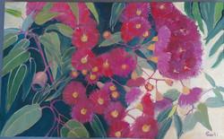 Gum blossem oilon canvas 60x38cm