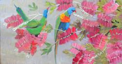 Bottlebrush (oil on canvas 60x32cm) $400