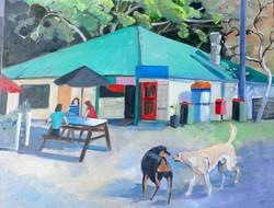 Wagstaff Shop oil on canvas 65x50cm $500