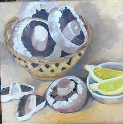 Mushrooms (oil on canvas 25x25cm) $300