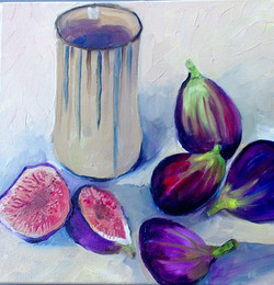 Figs (oil on canvas 25x25cm ) $300