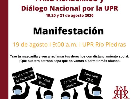 Semestre en la UPR comenzará con paro de la APPU